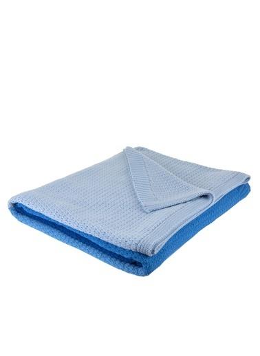 Bella Maison %100 Akrilik Romano Mavi Çift Kişilik Battaniye 200x220cm Mavi